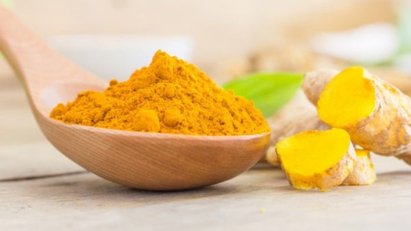 turmeric in spoon