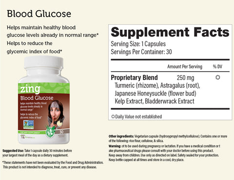 Blood Glucose… zing™ Herbal Supplement