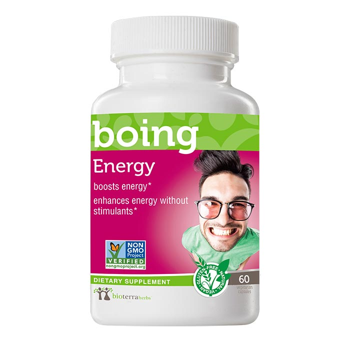 Energy… boing™ Natural Energy Supplement - BioTerra Herbs Bottle