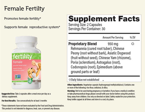 Female+Male Fertility Bundle Herbal Supplements