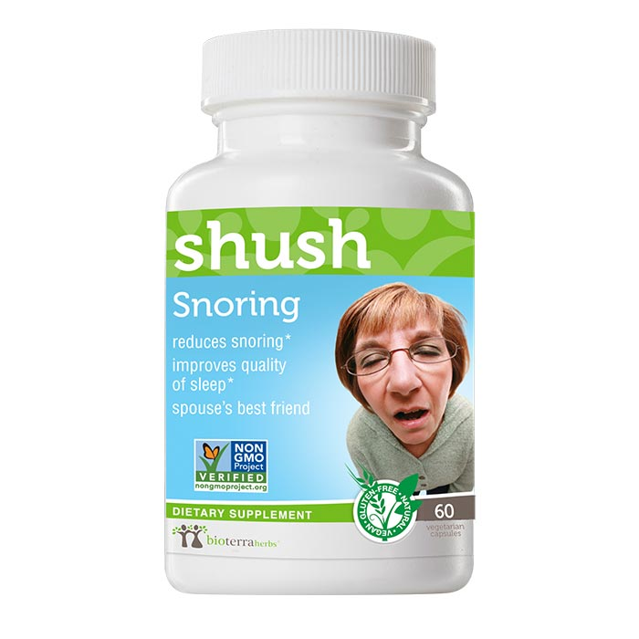 Snoring… shush™ - BioTerra Herbs Bottle