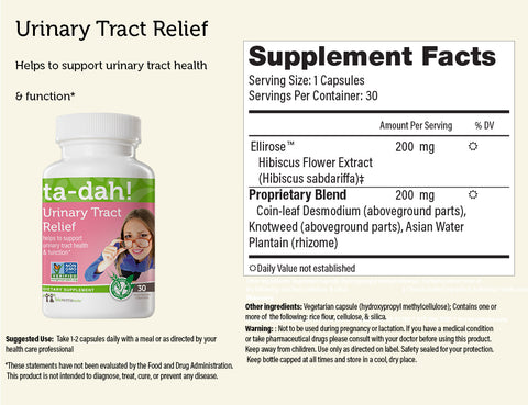 Urinary Tract Relief ... ta-dah!