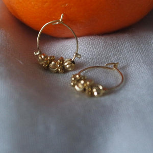 MINI GOLD HOOPS - AALIA Jewellery