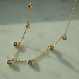 STONE DROP NECKLACE - AALIA Jewellery