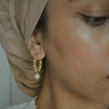 Load image into Gallery viewer, GOLD PEARL EARRINGS - AALIA Jewellery