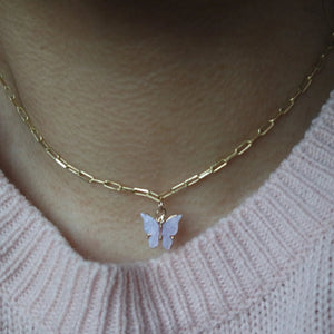 LILAC BUTTERFLY NECKLACE - AALIA Jewellery