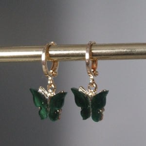 EMERALD GREEN HOOP EARRINGS
