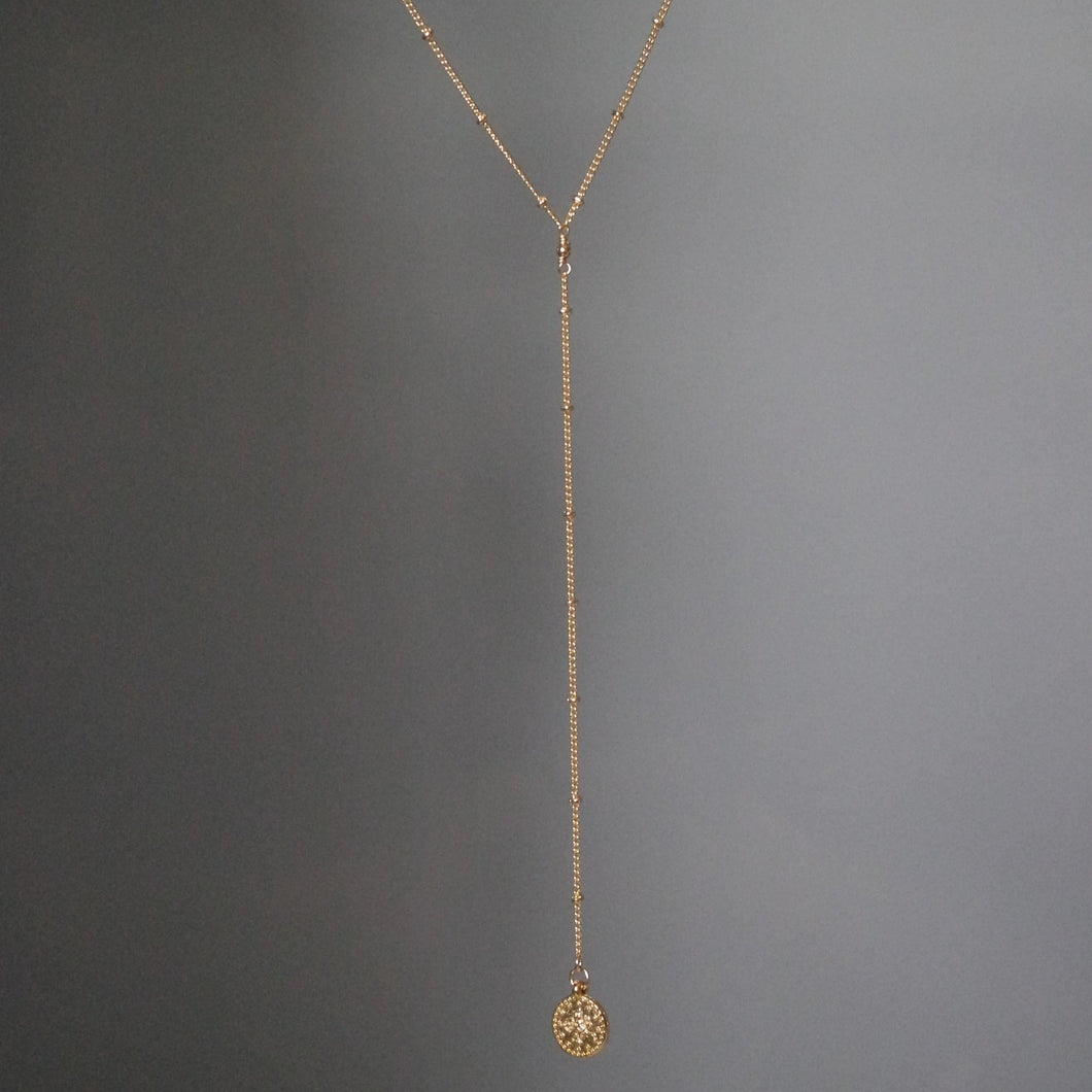 COIN LARIAT Y NECKLACE