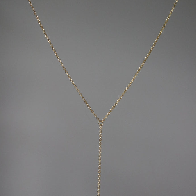 GOLD CABLE Y LARIAT NECKLACE
