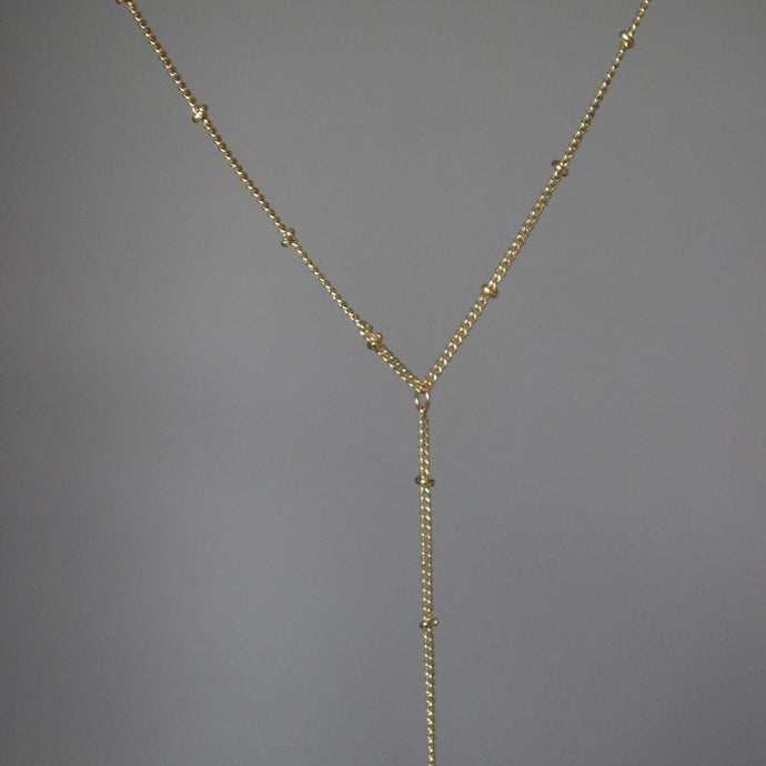 SATELLITE CHAIN LARIAT Y NECKLACE