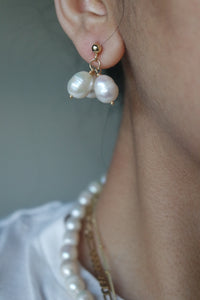 CLUSTER PEARL STUDS EARRINGS