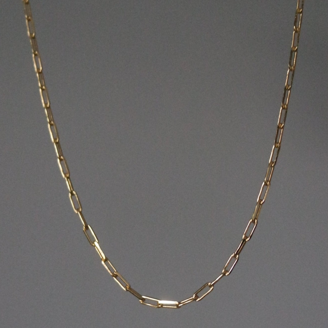 THIN RECTANGLE CHAIN NECKLACE