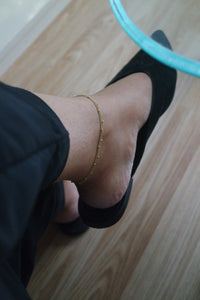 GOLD BEADED ANKLET