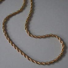 Load image into Gallery viewer, GOLD ROPE CHAIN NECKLACE
