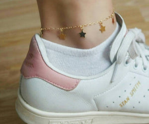 GOLD STAR ANKLET - AALIA Jewellery
