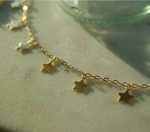 gold star anklet