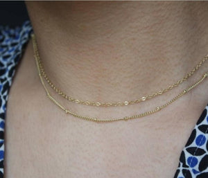 DOUBLE CHAIN NECKLACE - AALIA Jewellery