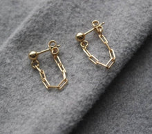 Load image into Gallery viewer, BOX CHAIN STUD EARRINGS - AALIA Jewellery