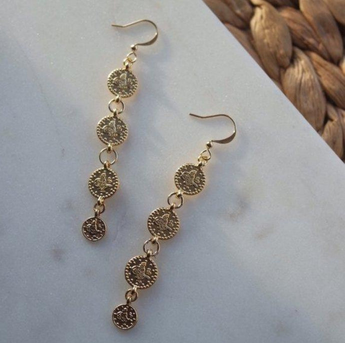 COIN DROP EARRINGS - AALIA Jewellery