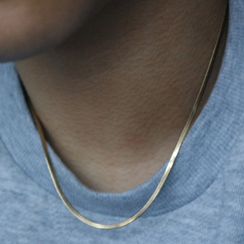 SKINNY FLAT CHAIN NECKLACE