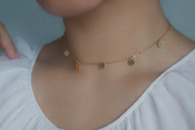 Load image into Gallery viewer, GOLD COIN CHOKER NECKLACE