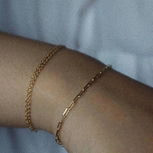 RECTANGLE CHAIN BRACELET - AALIA Jewellery