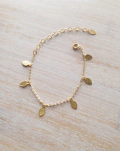 Load image into Gallery viewer, GOLD LEAF ANKLET - AALIA Jewellery