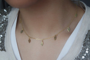 GOLD LEAF NECKLACE - AALIA Jewellery