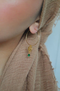 GOLD COIN HOOPS - AALIA Jewellery