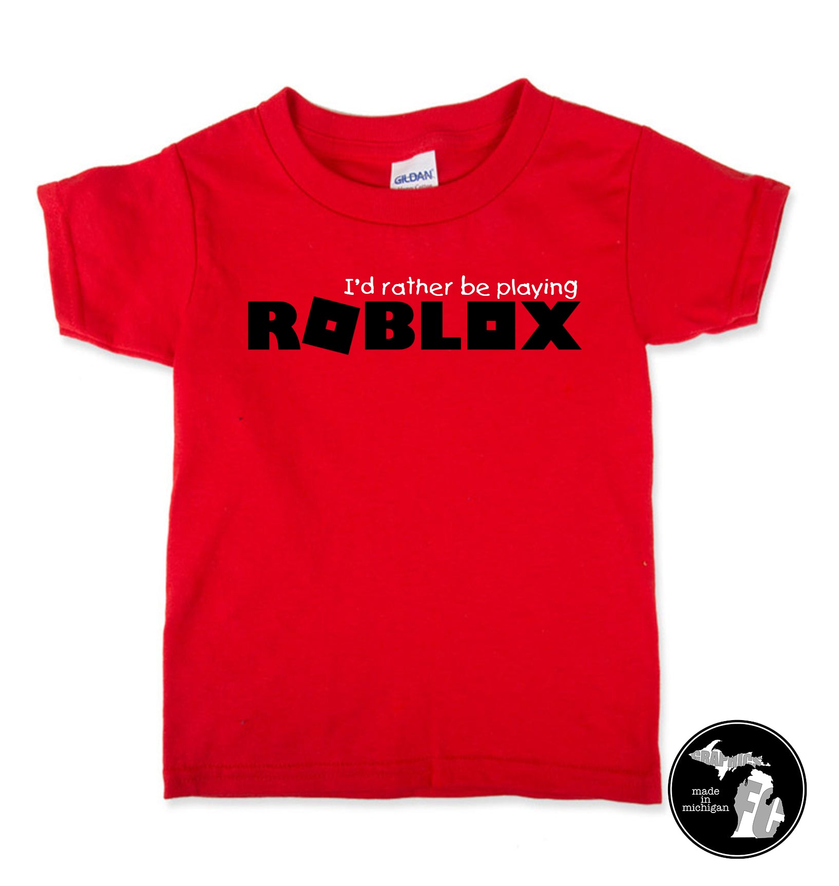 I D Rather Be Playing Roblox T Shirt Child Adults Obby