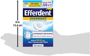 Efferdent Anti-Bacterial Denture Cleanser | 5-in-1 Cleansing System | 102 Tablets