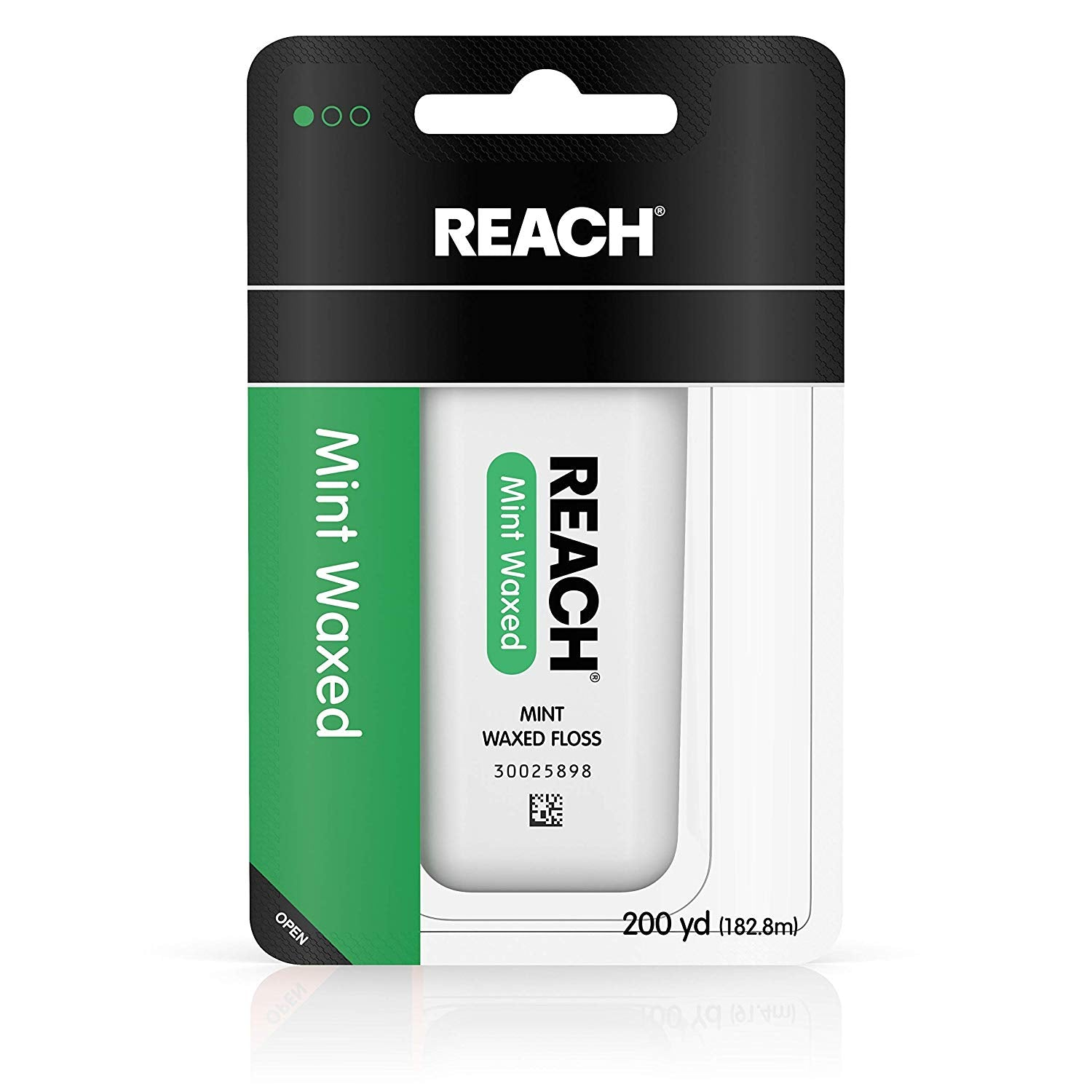 Reach Waxed Dental Floss for Plaque and Food Removal, Refreshing Mint Flavor, 200 Yards