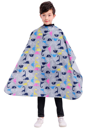 Kids Haircut Barber Cape Cover for Hair Cutting,Styling and Shampoo, for Boys - Black Space Printing