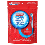 Colgate Max Fresh Wisp Disposable Mini Travel Toothbrushes, Peppermint - 24 Count (4 Pack)
