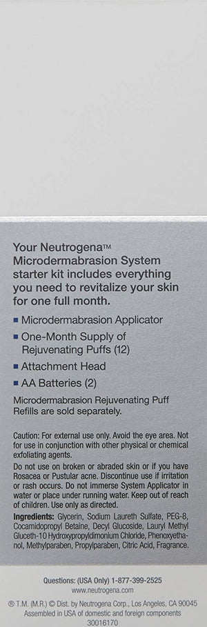Neutrogena Microdermabrasion System Puff Refills, Exfoliator face scrub with Glycerin, wrinkle remover, 24 ct