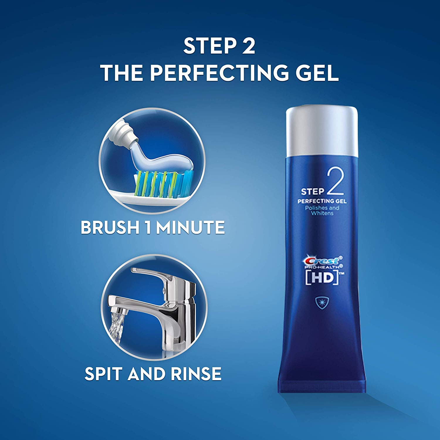 Crest Pro-Health HD Toothpaste, Teeth Whitening and Healthier Mouth via Daily Two-Step System
