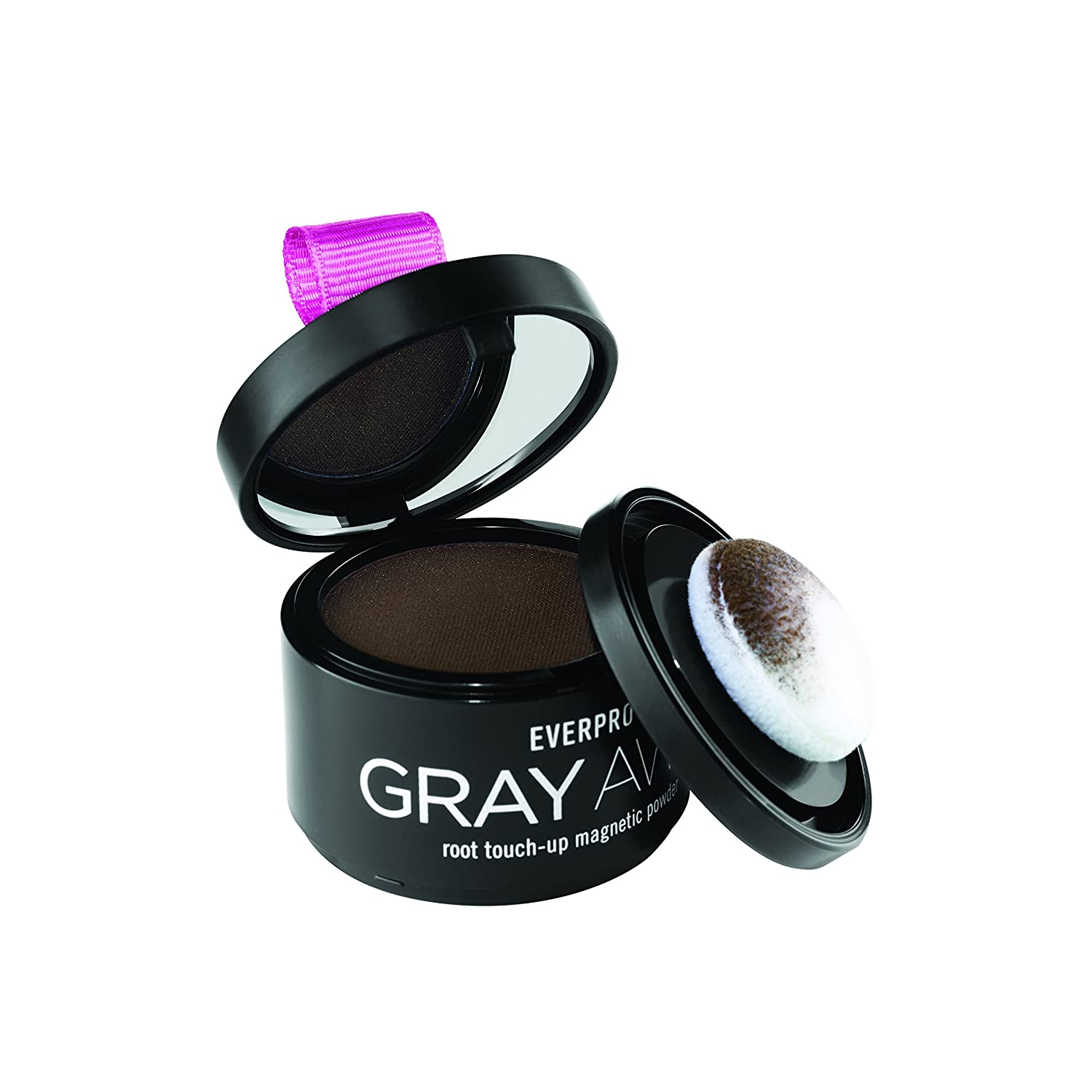 Everpro Gray Away Temporary Root Concealer Root Touch Up Magnetic Powder, Black/Dark Brown