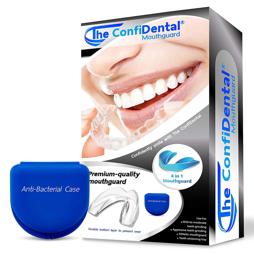 The ConfiDental - Pack of 6 Moldable Mouth Guard for Teeth Grinding Clenching Bruxism, Sport Athletic, Whitening Tray