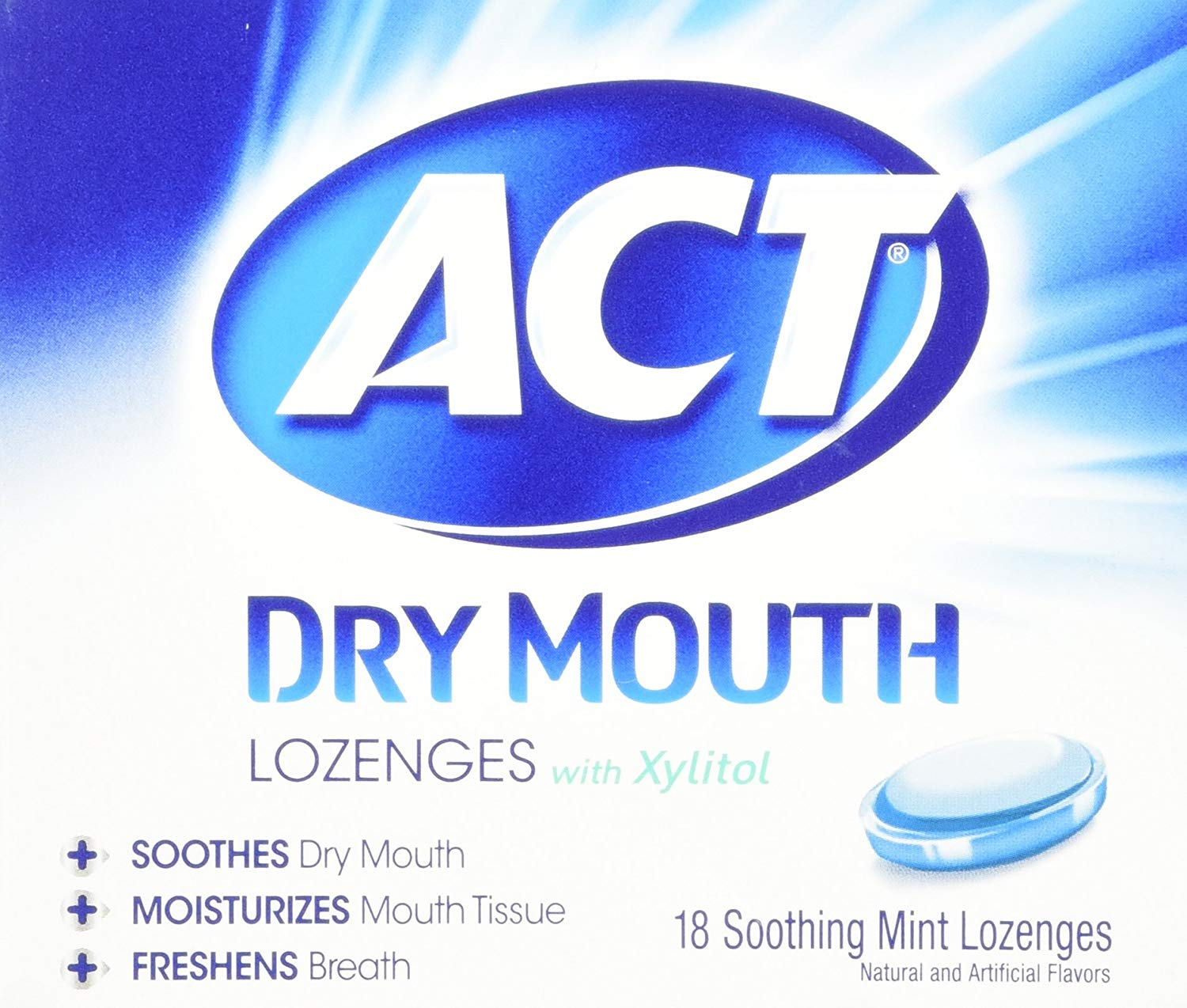 Act Dry Mouth Mint Lozeng Size 18ct
