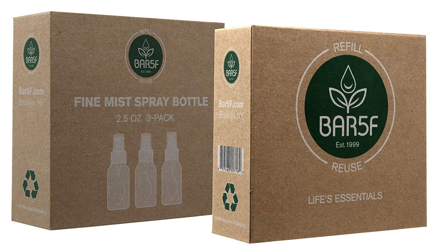 Bar5F Fine Mist Spray Bottle, 2.5 OZ (Pack of 3)