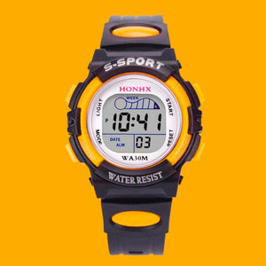 2020 Waterproof Children Boy Multifunction Boy Digital LED Sports Waterproof Wrist Watch Kids Alarm Date Electronic Watch Gift Q
