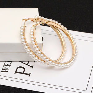 Big Round Drop Earrings For Women Gold/Silver Simple Jewelry Female Fashion Accessories Girls Earring Brincos