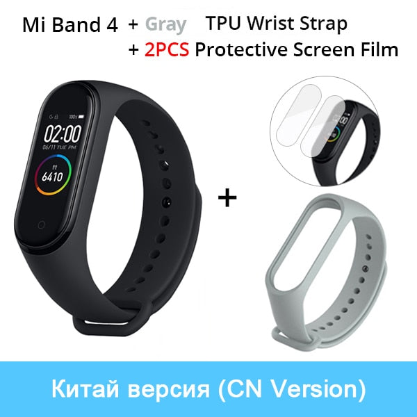 Xiaomi Mi Band 4 Smart Bracelet 3 AMOLED Color Screen Miband 4 Heart Rate Fitness Bluetooth Sport 50ATM Waterproof SmartBand