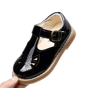 Kids Shoes Butterfly Hollow Girls Oxfords Shoes T-bar Casual Shoes School Uniform Dress Princess Mary Jane Flat Shoes