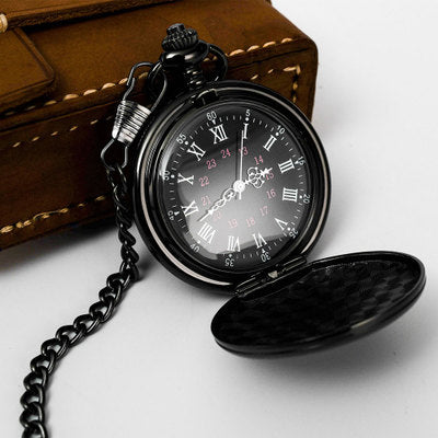 Classic Silver/Bronze/black/Gold Polish Smooth Quartz Pocket Watch Jewelry Alloy Chain Pendant Necklace Chain Man Women's Gift
