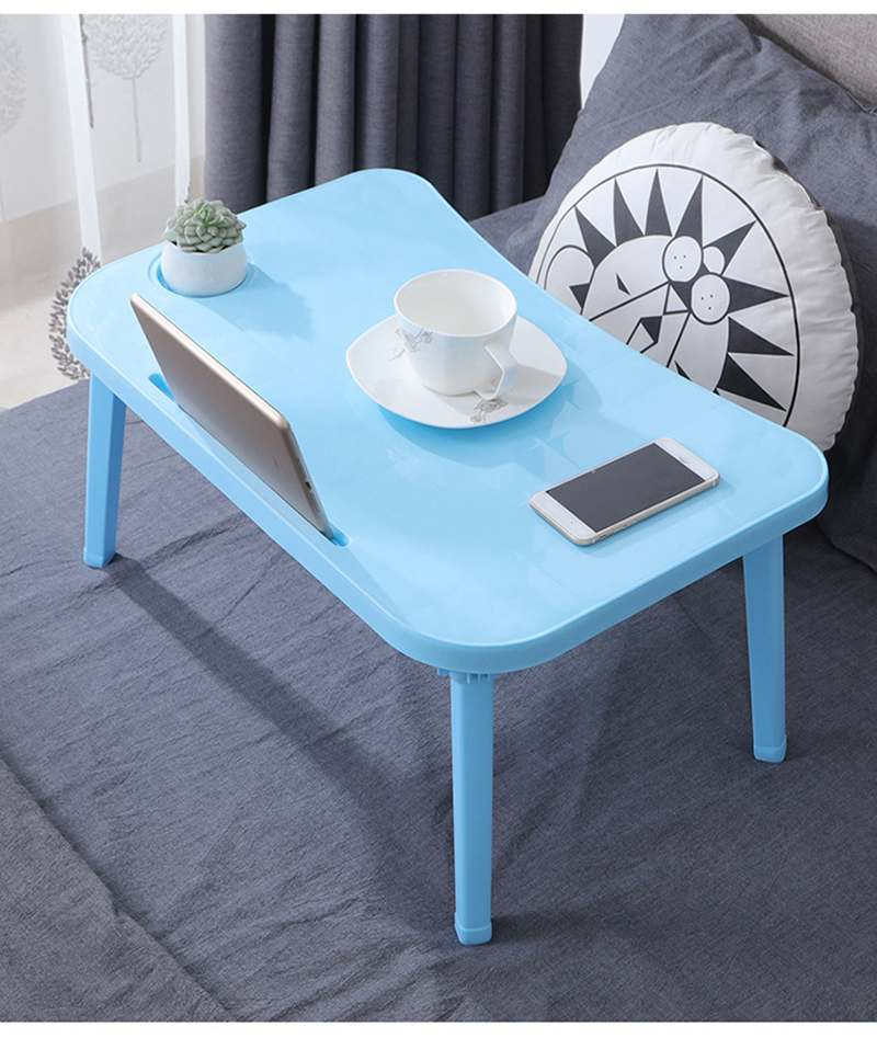 Breakfast Serving Bed Trays Adjustable Foldable with Flip Top and Legs Computer Desk Stand Folding Laptop Table Notebook Desk