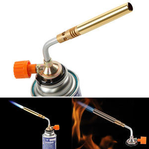 Gas Torch Portable Flamethrower Butane Manual Ignition Torch Lighter for Cooking Camping Outdoor Hiking  Welding BBQ Baking