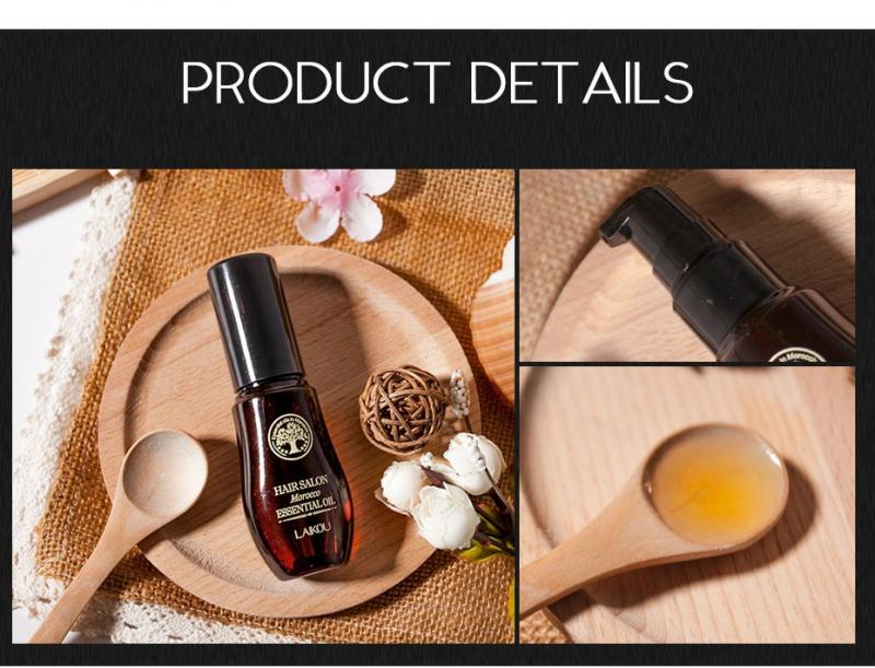 Hot! Hair Care Moroccan Pure Argan Oil Hair Essential Oil For Dry Hair Multi-functional Types Of Hair And Scalp Treatments TSLM1