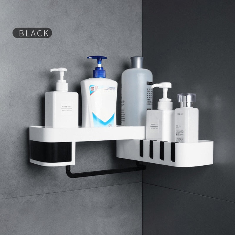 GUNOT Corner Shower Shelf Creative Seamless Rotating Tripod Home Wall-mount Storage Rack Multifunction Bathroom Accessories Sets