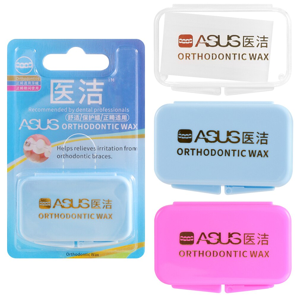 3 Flavor Choice Gum Protection Wax Dental Orthodontics Braces  Protection Oral safety Reduce stimulation Orthodontics Braces